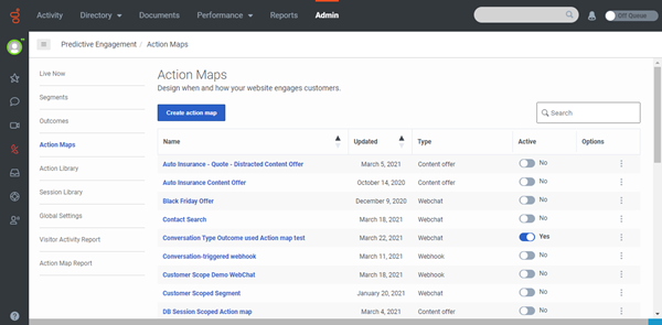 Genesys admin predengage actionmaps page.png