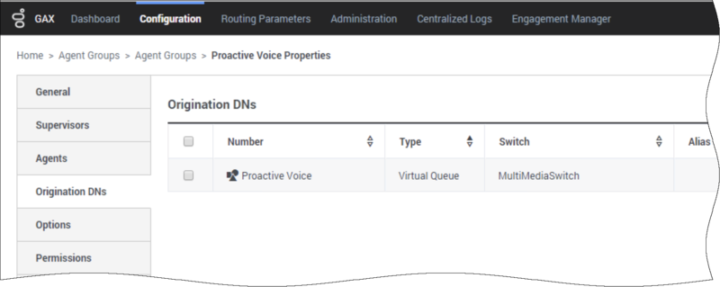 An agent group is associated with the Proactive Voice virtual queue