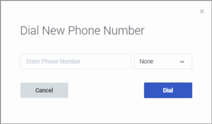 Dial New Phone Number dialog